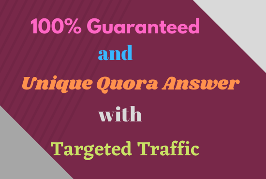 I will Guaranteed Your website with 25 Quora answers