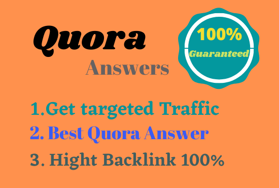 Guaranteed Your website with 40 Quora answers: