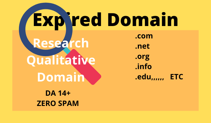 I will Research for you spam free profitable 3 Domain with DA14+
