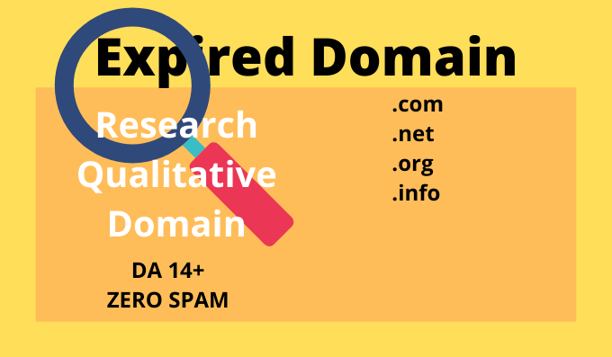 I will Research A Domain DA 14+ for you for PVN