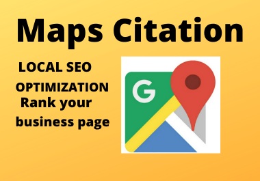 150 Google Maps citation manual permanent backlinks rank your website