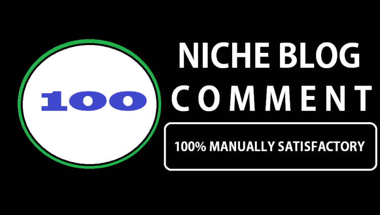 I will provide 100 niche relevant manual blog comment backlinks