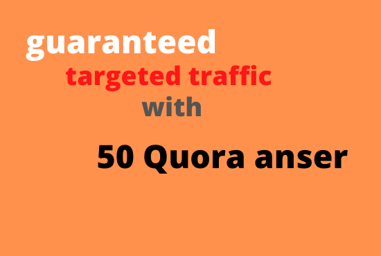 Promote Your Site 50 HQ Quora Answer
