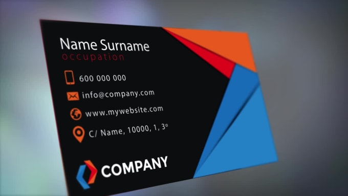 i will do business card very very fast time