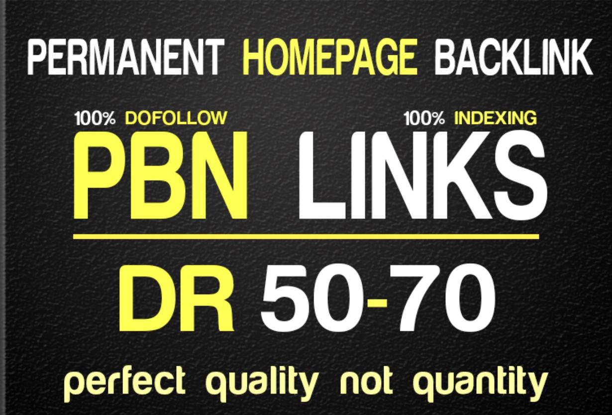 I will 50 PBN DR 50plus high quality PBN Dofollow Backlins