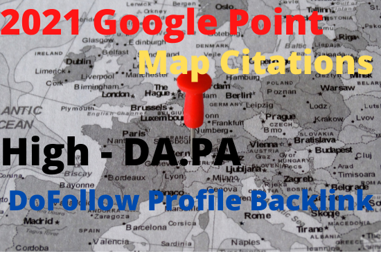 100 create google point map citations for local SEO