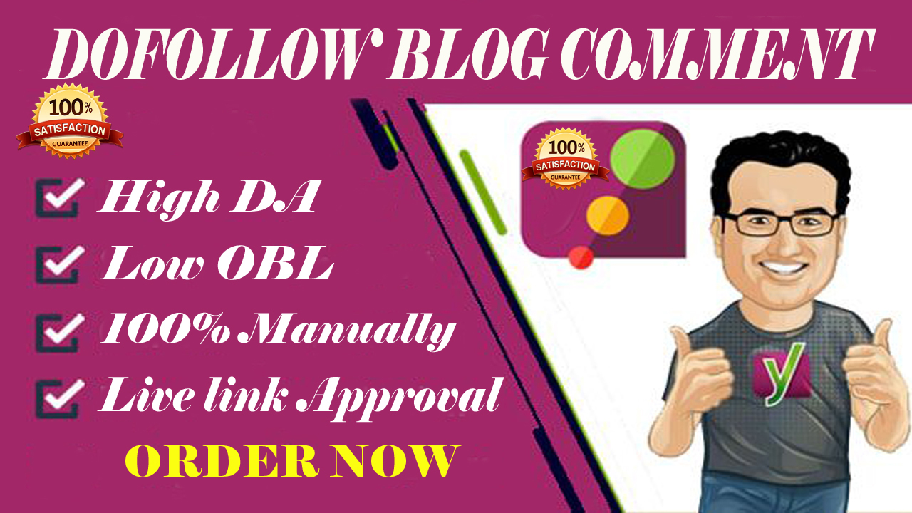 50 high-quality Dofollow blog comment backlinks