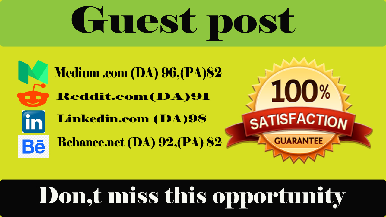Publish 4 Guest Post On High Authority Websites.