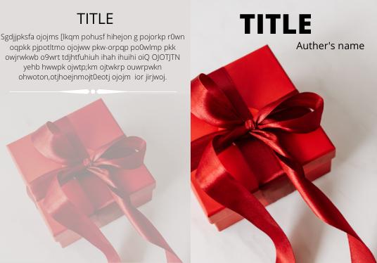 I will do cover design for your e book