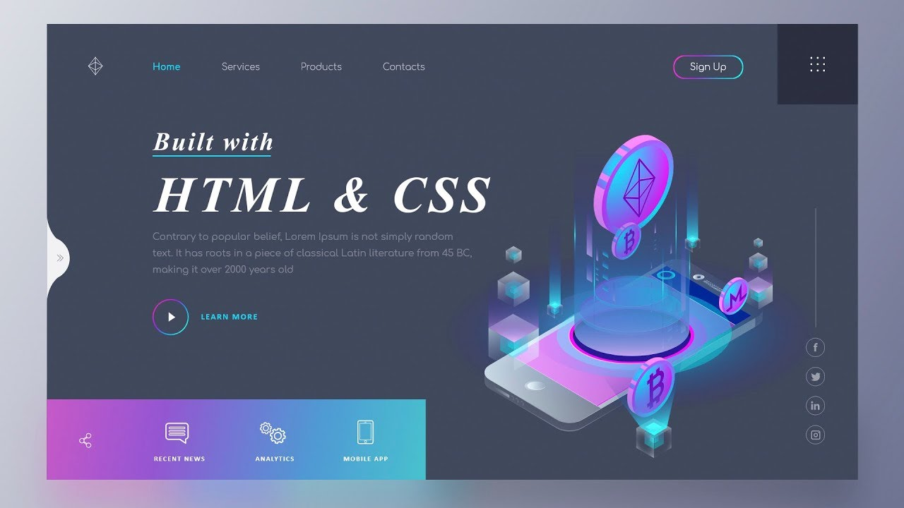 I Will Make Responsive Website Using Html Css Bootstrap