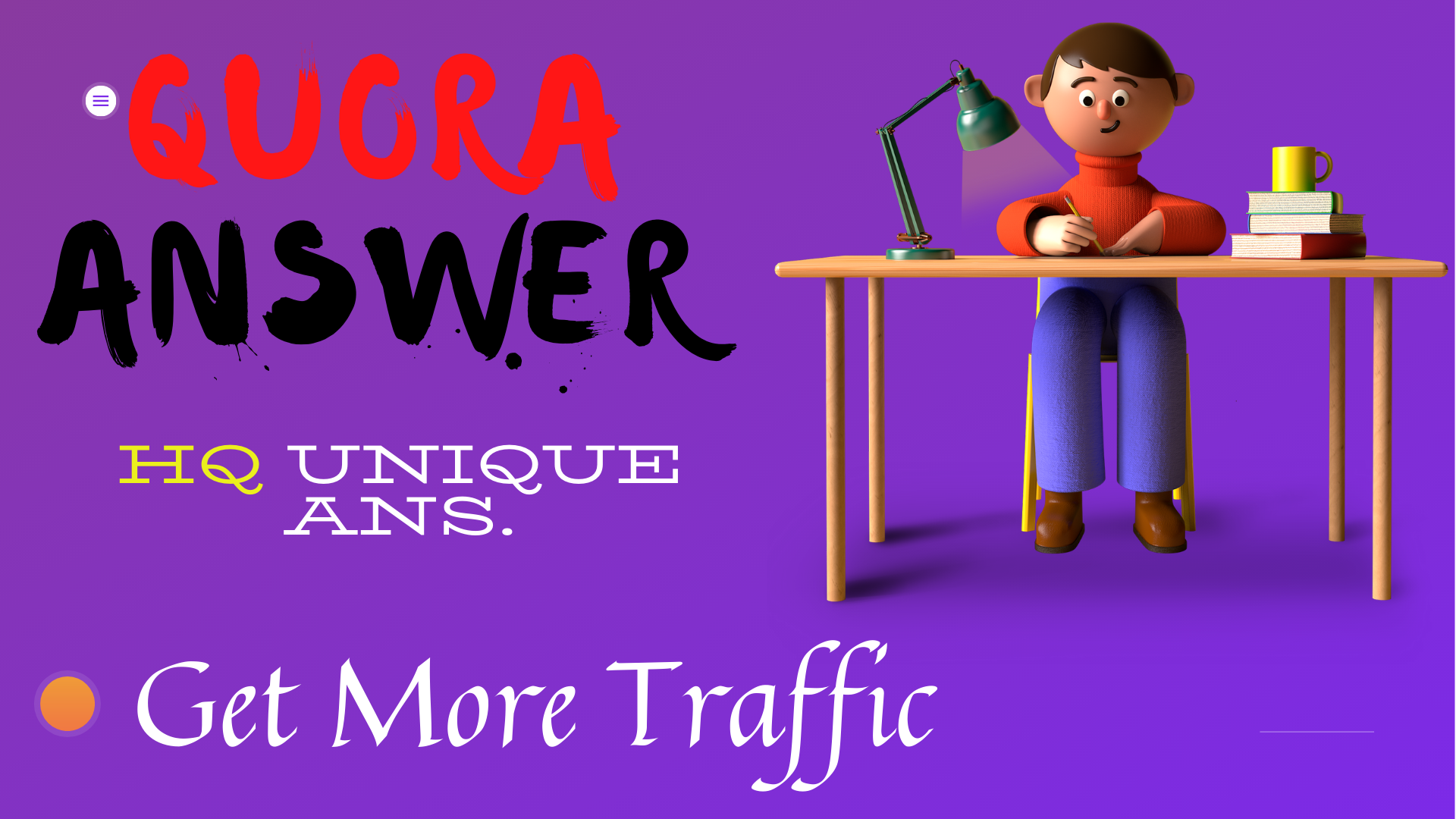 Create 5 Quora Answer to Promote your website or business with Unique Article