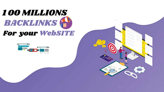 I will create 1 million backlinks dofollow for your site
