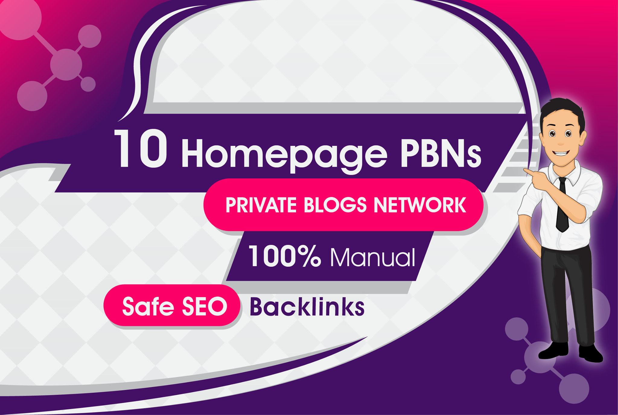 Build Manually 10 Homepage PBN On High DA DR and Aged Sites