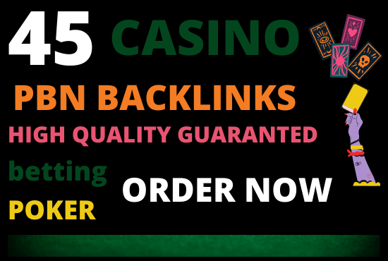 i will create 45 casino gambling betting poker safe and high quality pbn backlinks