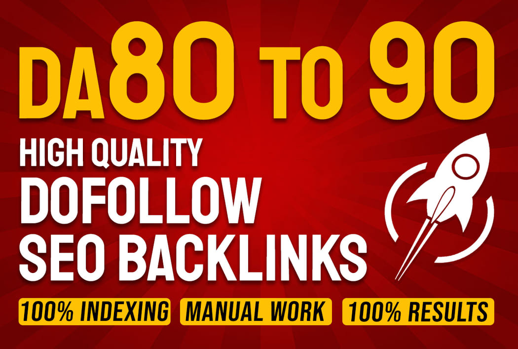 I will make high authority high da profile dofollow SEO backlinks