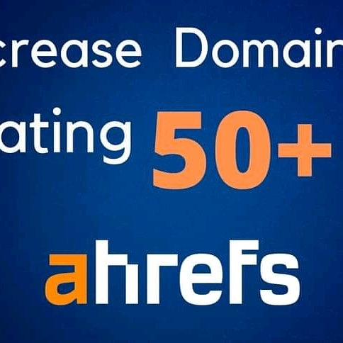 I will increase ahref domain rating 50+ without any spam with high quality backlinks