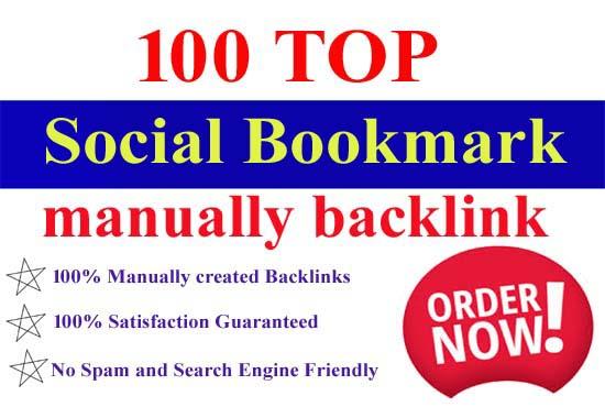 I will do 100 social bookmarking on high da backlinks