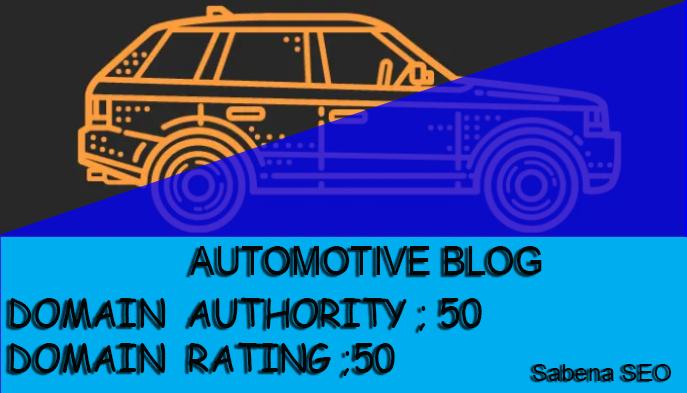 Live car article on car blog automotive guest post contextual seo backlinks