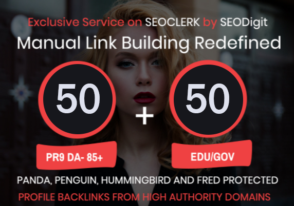 50. EDU/. GOV+ 50 PR9 High Authority Backlinks- Panda,  Penguin and Hummingbird safe We al