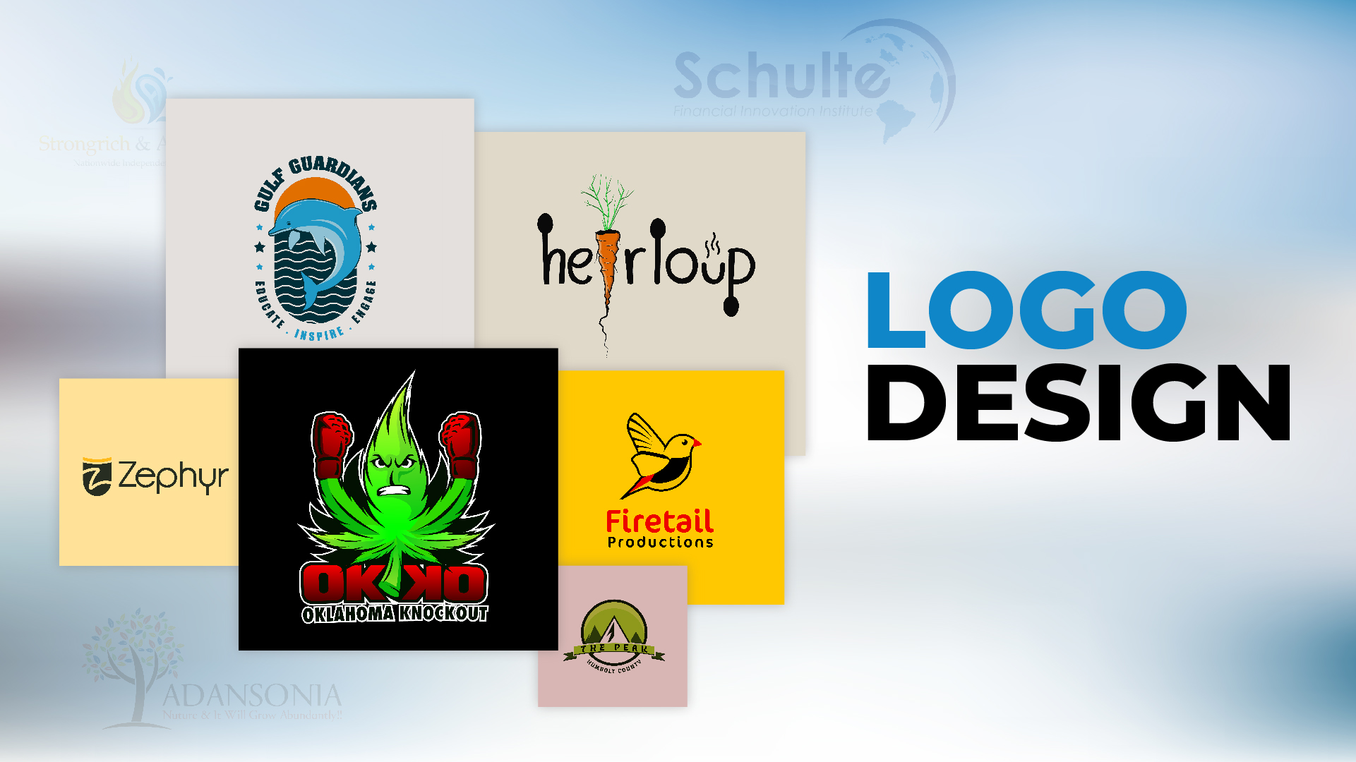 You will get an amazing logo design for your business