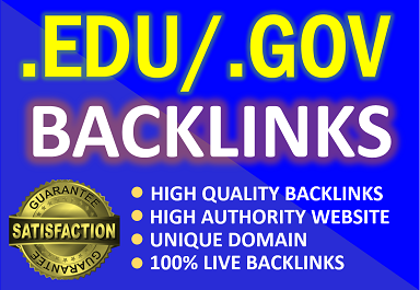 Create 15. Edu /. Gov high authority profile backlinks