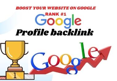 I will create profiles backlink High DA High PA 1 RANK ON GOOGLE