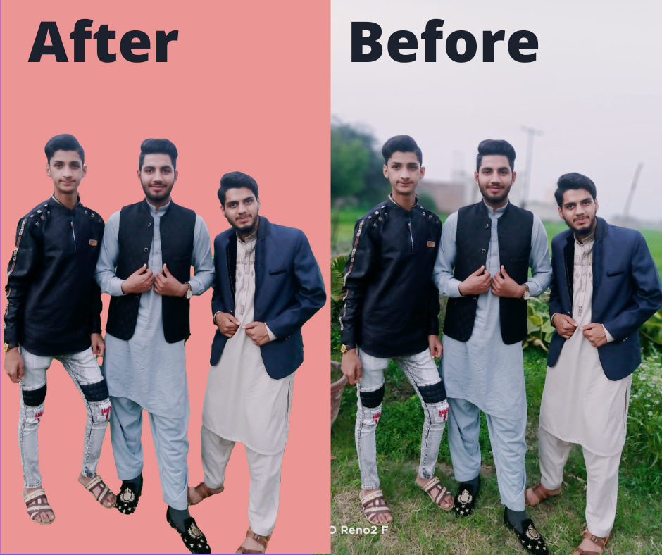 I will do 20 photos background removal in 2 hours