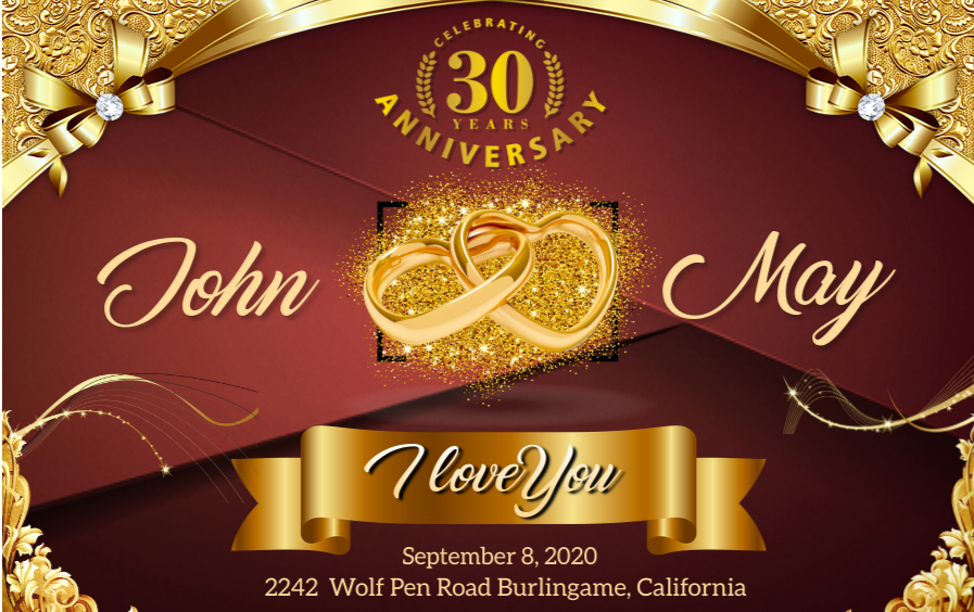 I will design wedding,  birthday,  Christmas or any type of invitation card