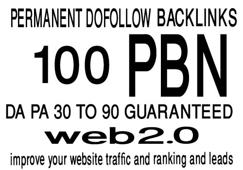 I WILL DO 100+ Permanent Web2.0 Backlink with High DA/PA/TF/CF On your homepage with unique website