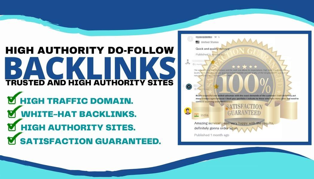 Provide 10 Permanent Premium Quality High Authority Dofollow Backlinks