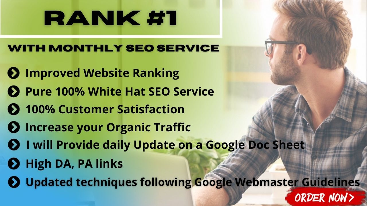 I Will Rank Your Website With Monthly Off Page SEO Backlinks Service.