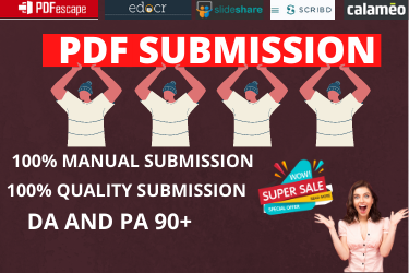 I will do 25 manual PDF submission to high authority pdf sharing site