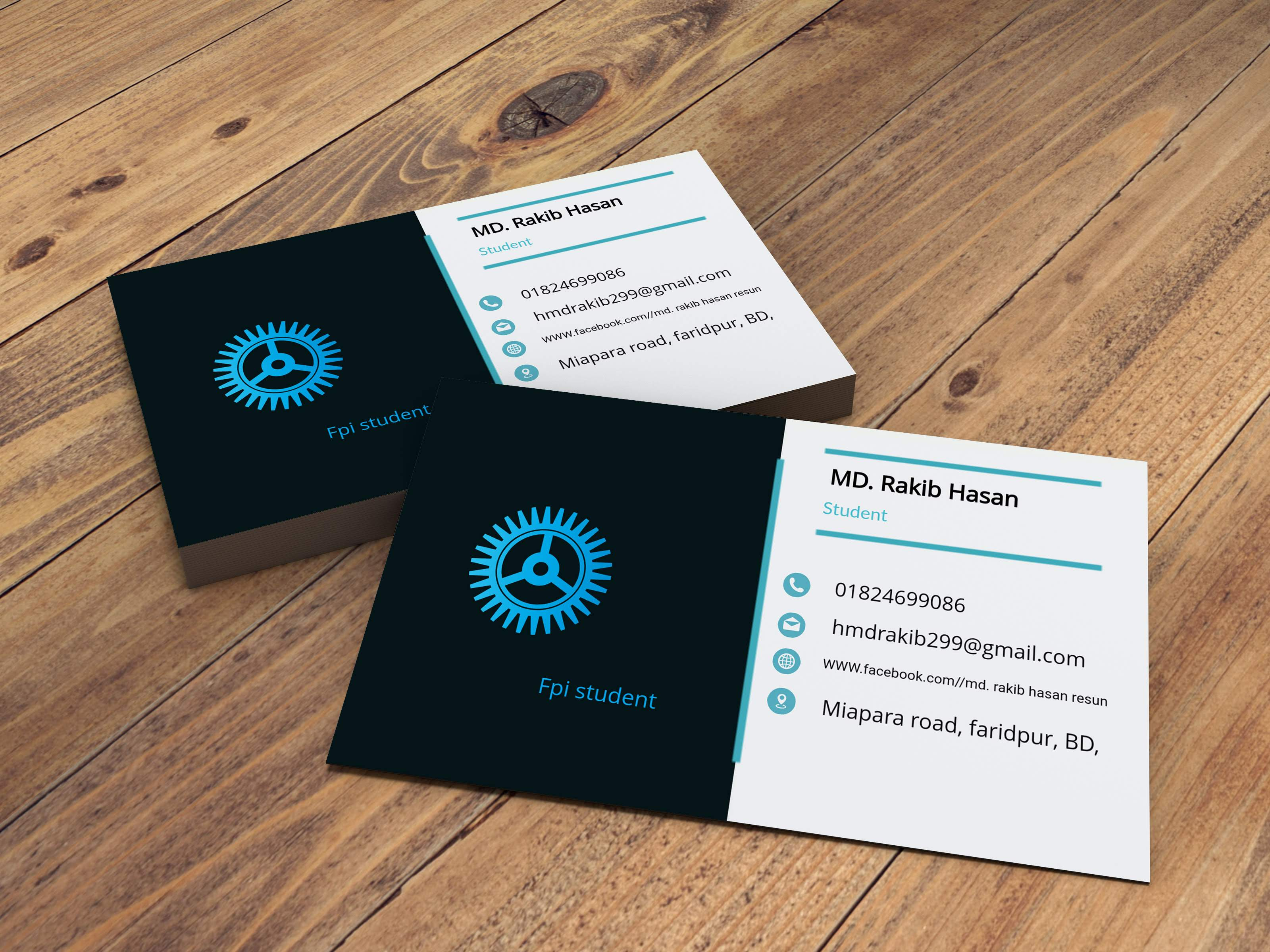 I will create a business card design for you