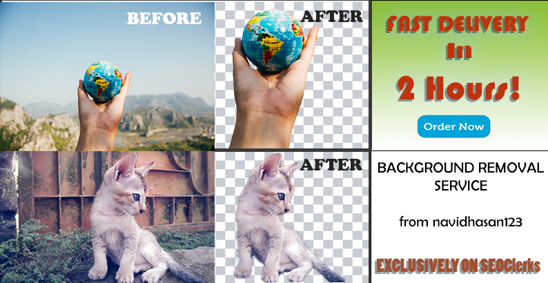 Complete professional Background Removal Service