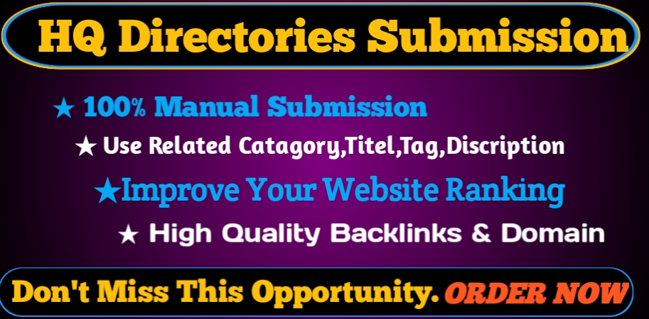 I will Provide 30 Manual Directory Submission backlinks