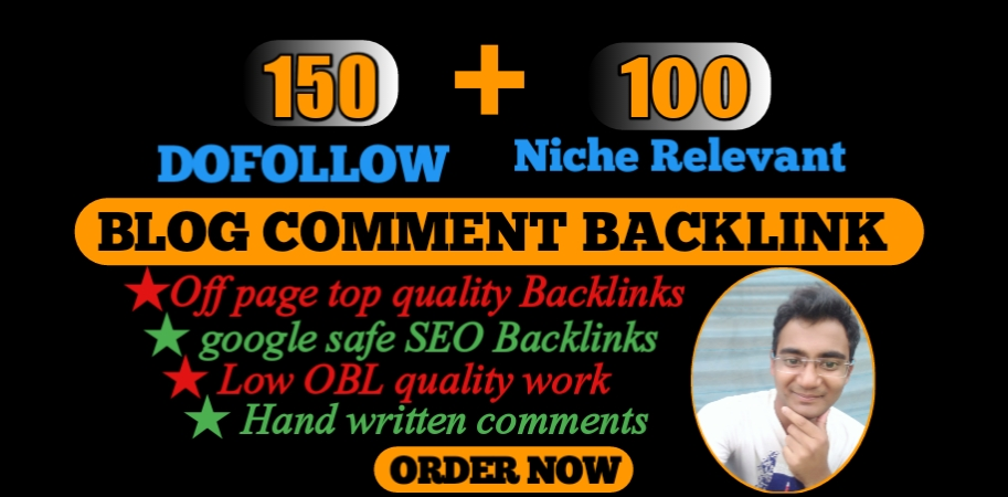 Provide high DA Dofollow and niche relevant blog comments backlinks