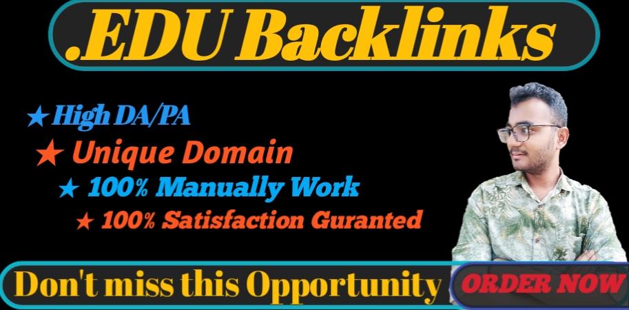 I will provide HQ 10. EDU/. GOV backlinks for your SEO on google ranking
