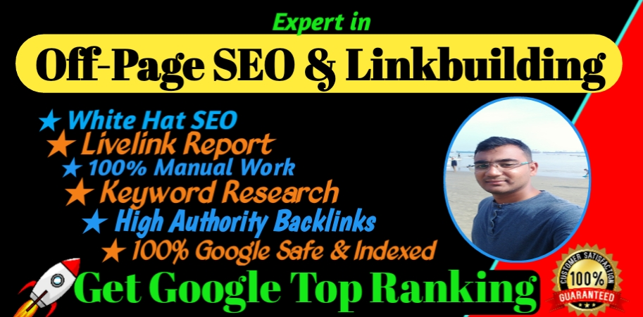 I will Do off-page SEO Backlinks manual link building service for google top ranking