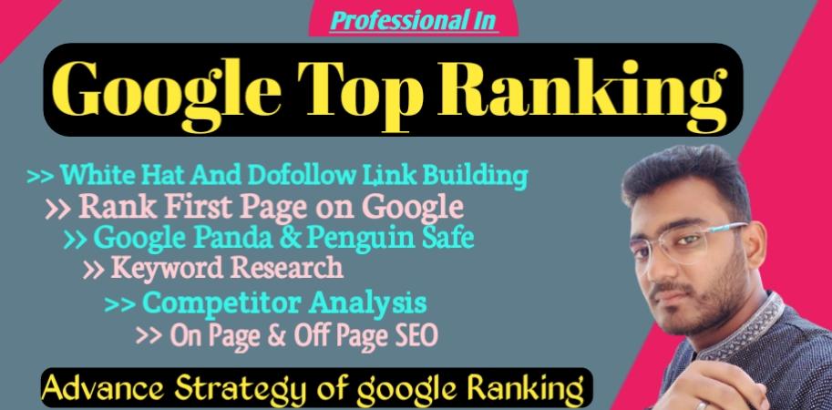 I will provide manually white hat SEO to do follow backlinks for google top ranking