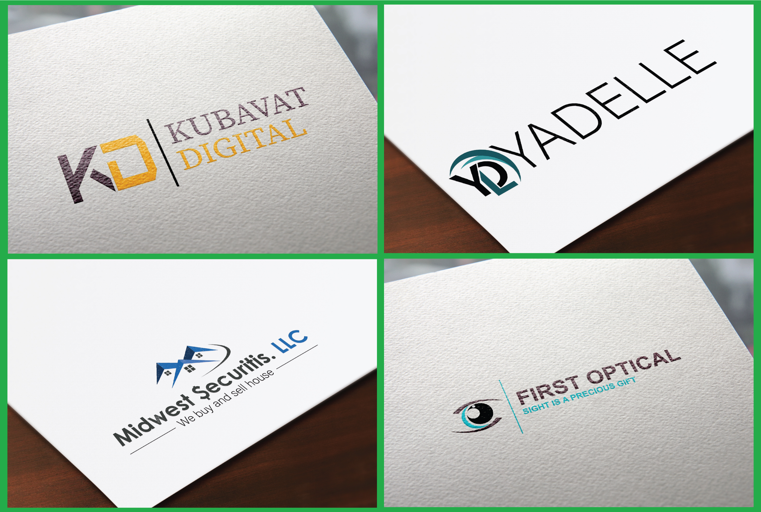 Professional and Modern Logo Design with mockup, CMYK & RGB color, Print ready
