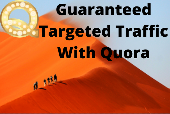 Guaranteed traffic with best 60 Quora answer for your website