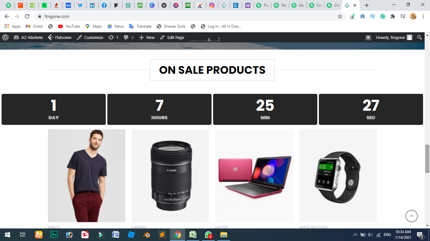 create and design ecommerce wordpress website
