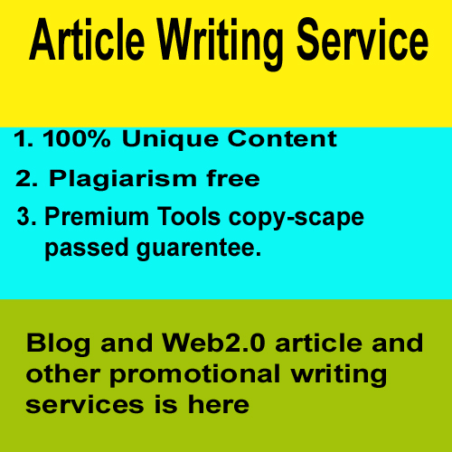 Write 500 to 1k words SEO friendly article for blogs and web2.0
