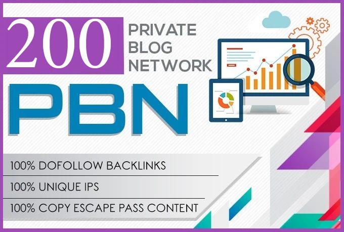 I will do 200 pbn DA 30+ dofolow parmanent homepage post