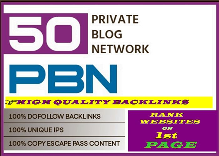 I will do 50 pbn DA 30+ dofolow parmanent homepage post high quality backlinks
