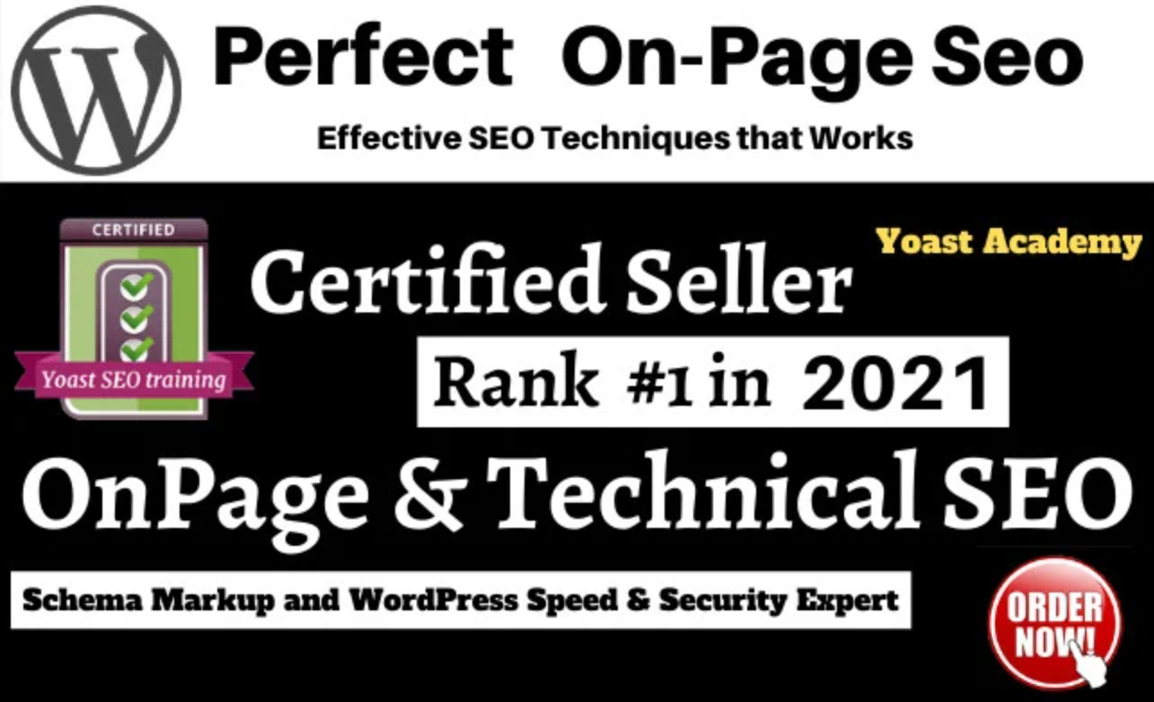 I will do on page optimization and technical SEO for wordpress