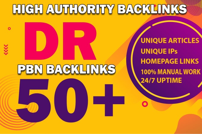Get 12 Permanent DR 50+ Homepage PBN Dofollow Backlink