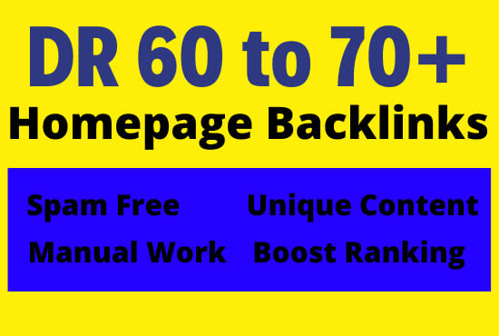 Get 10 Permanent DR 60+ Homepage PBN Dofollow Backlink