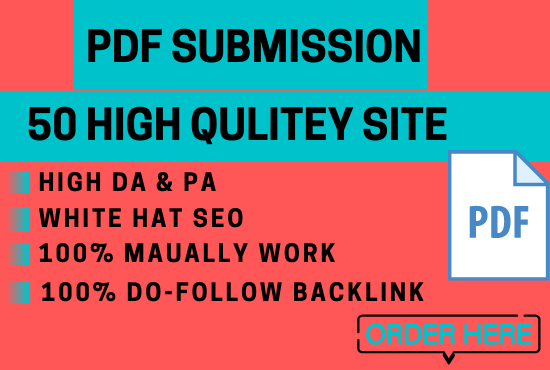 Build 50 manual PDF submission on top document sharing sites