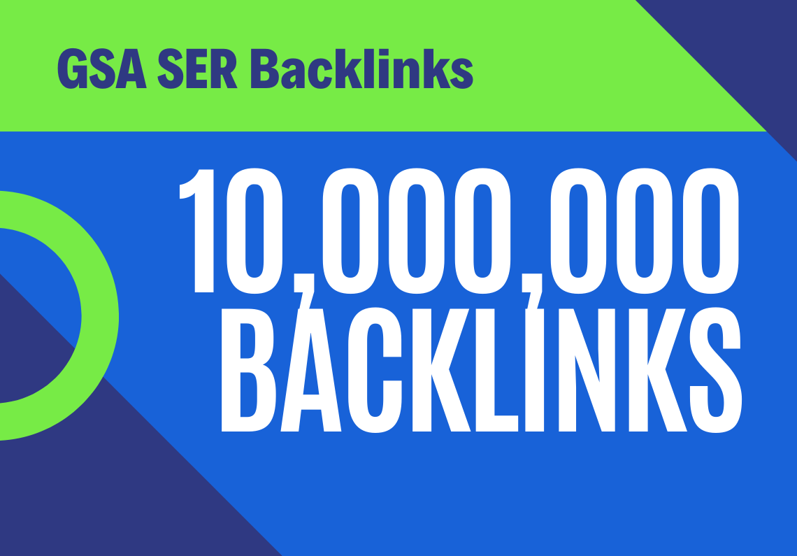 100% Dofollow 10.000,000 Backlinks Fast Indexing for websites, videos, stores shops